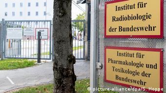 Лабораторные анализы проводил Институт фармакологии и токсикологии бундесвера, сертифицированный ОЗХО