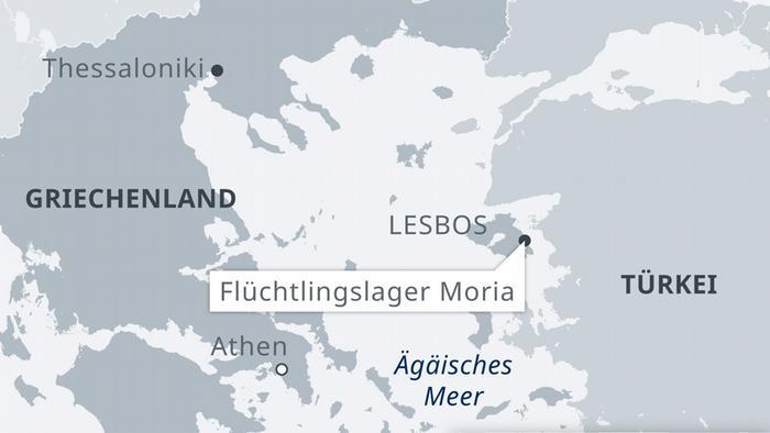 Grecia, Lesbos: incendios en el campo de refugiados de Moria.