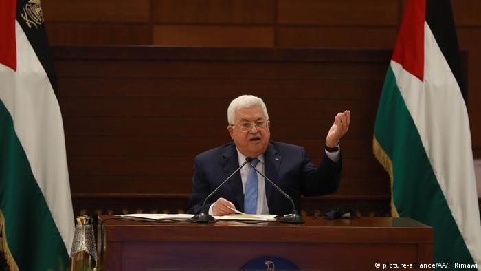 الرئيس الفلسطيني محمود عباس في خطاب له بتاريخ 3 سبتمبر/ أيلول 2020
