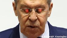 Riussland Außenminister Sergei Wiktorowitsch Lawrow