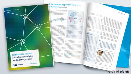 A photo of the DW Akademie publication 'From start to success — a handbook for digital media entrepreneurs'. (DW Akademie)