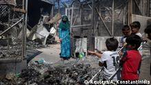 Griechenland Großbrand im Flüchtlingslager Moria