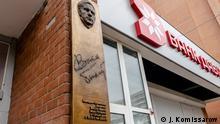 Weißrussland Minsk | Gedenktafel | Schriftsteller Wasil Bykov
