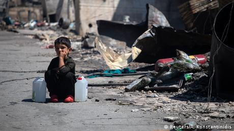 Griechenland Großbrand im Flüchtlingslager Moria (Reuters/A. Konstantinidis)