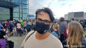 Σε διαδήλωση το 2020 για την φιλοξενία προσφύγων από την Ελλάδα στο Βερολίνο