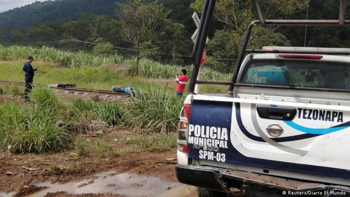 The site where Julio Valdivia's body was found (Reuters/Diario El Mundo )