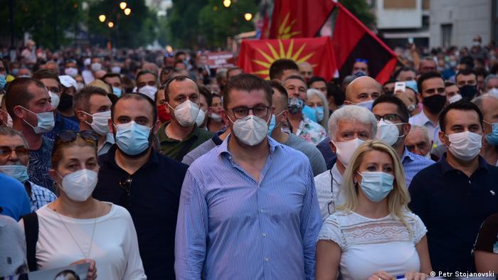 Nordmazedonien Protest VMRO-DPMNE Strom-Preise (Petr Stojanovski)
