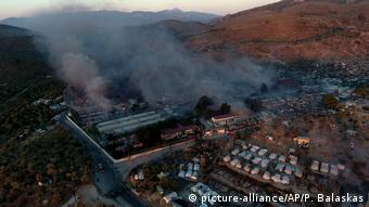 Griechenland Lesbos   Lager Moria neue Brände (picture-alliance/AP/P. Balaskas)