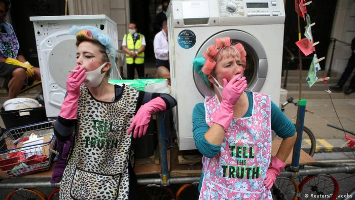Großbritannien Protest Extinction Rebellion London