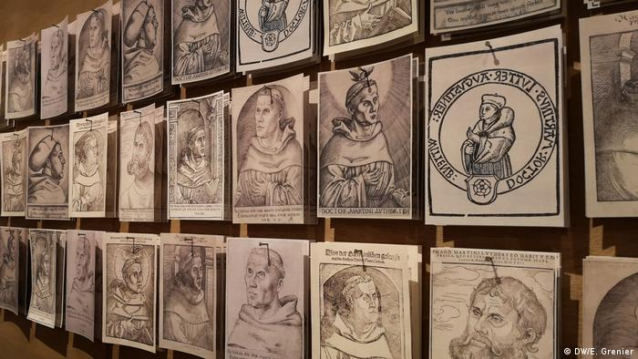 A series of etchings from the 16th century portraying Martin Luther