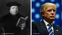 Kombobild Martin Luther Donald Trump