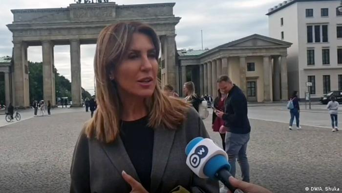 Berlin Interview Majlinda Bregu aus Albanien