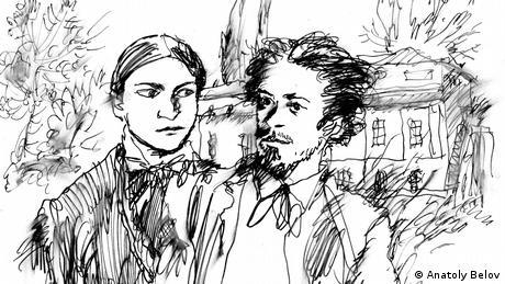 Наталя Линтварьова та Антон Чехов - малюнок Анатолія Бєлова
