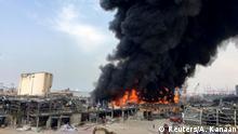 Libanon Beirut Feuer Hafen