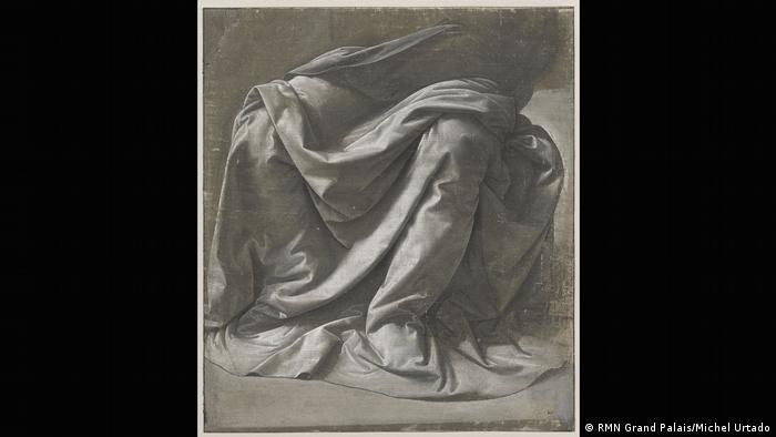 Leonardo da Vinci drawing 'Drapery for a Seated Figure' from 1470