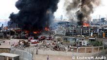 Libanon Beirut | Großbrand am Hafen | Schwarze Rauchwolken