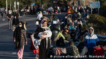 Griechenland Lesbos | Brand in Flüchtlingslager Moria | Asylsuchende
