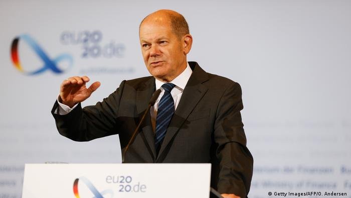Deutschland Berlin | Pressekonferenz | Olaf Scholz zur Steuerschätzung (Getty Images/AFP/O. Andersen )