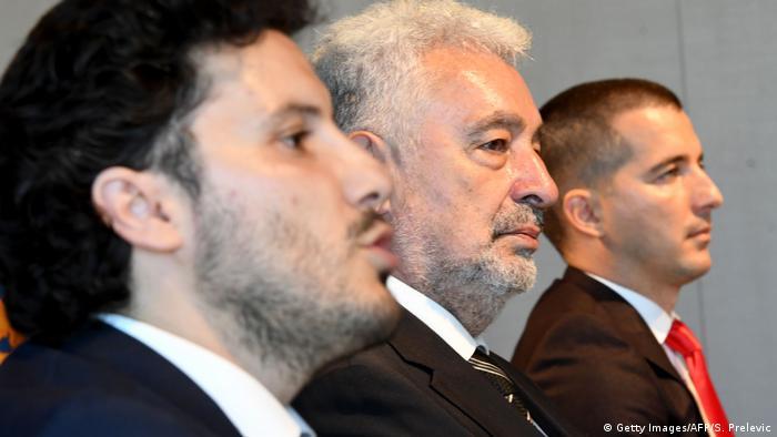 Montenegro I Regierung I Dritan Abazovic I Zdravko Krivokapic I Aleksa Becic (Getty Images/AFP/S. Prelevic)