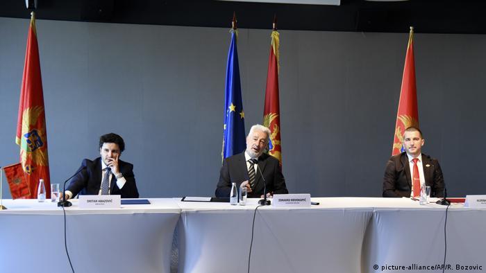 Objavljivanje zajedničke kolaicije stranaka Krivokapića, Abazovića i Becića