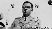 Gen. Joseph-Desire Mobutu, president of the Republic of Congo, speaks in June 1966. (AP Photo/Willems)  