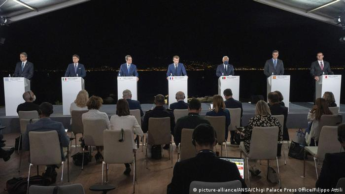 Frankreich   Gipfel der MED7-Mittelmeerländer in Ajaccio (picture-alliance/ANSA/Chigi Palace Press Office/Filippo Attili)
