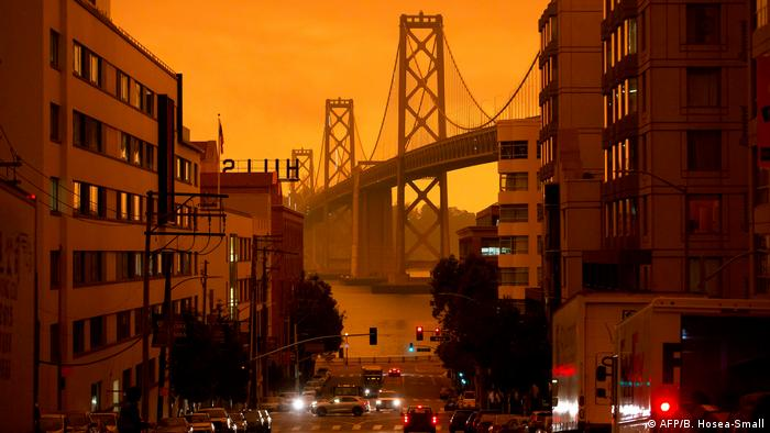 The orange sky above San Francisco has become a symbol of the huge fires