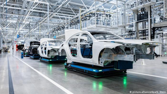Production line in the new Mercedes Factory 56 in Sindelfingen, Germany