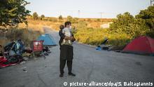 Griechenland Nach Brand im Flüchtlingslager Moria auf Lesbos