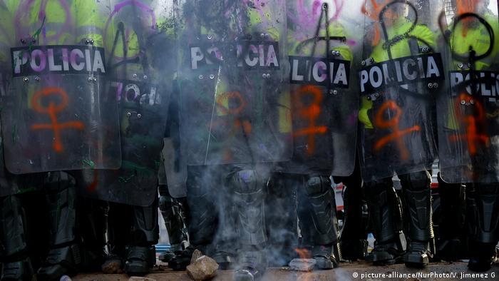 Proteste gegen Polizeigewalt in Kolumbien (picture-alliance/NurPhoto/V. Jimenez G)