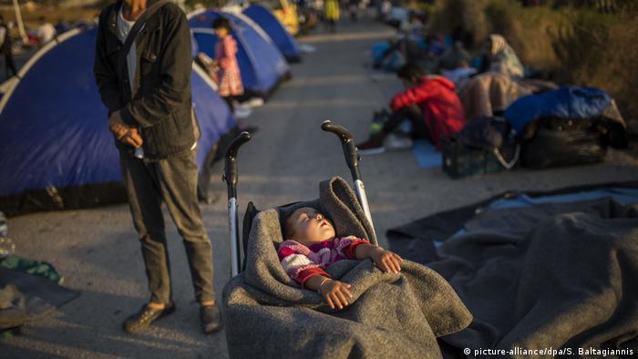 Griechenland | Nach Brand in Flüchtlingslager Moria auf Lesbos