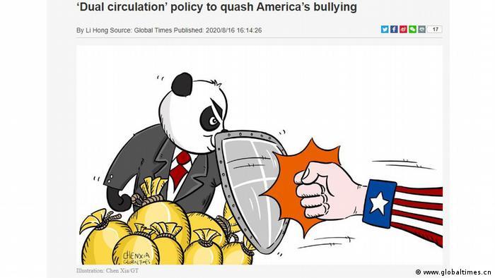 Карикатура у Global Times