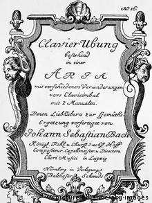 J.S.Bach /Aria mit versch. Veraenderungen (picture-alliance/akg-images)