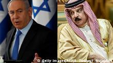 Kombolbild Benjamin Netanyahu und König Hamad bin Isa Al Khalifa