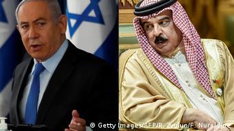 İsrail Başbakanı Benyamin Netanyahu ve Bahreyn Kralı Hamed bin İsa el-Halife
