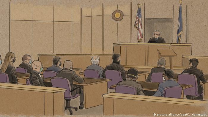 Fall George Floyd: Weitere Gerichtsanhörung im Vorverfahren (picture-alliance/dpa/C. Hohnstadt)