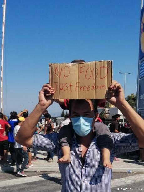 Griechenland I Flüchtlingslager auf Lesbos (DW/F. Schmitz)