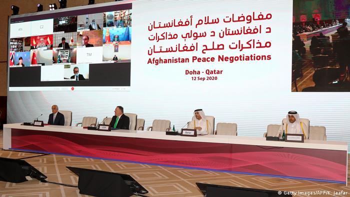 Katar Doha | Afghanistan Friedensverhandlungen (Getty Images/AFP/K. Jaafar)