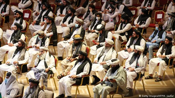 Taliban representatives in Doha