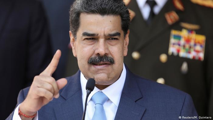 Venezuela's Präsident Maduro bei einer Pressekonferenz im Miraflores Palace in Caracas