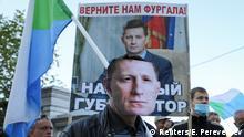 Russland Chabarowsk | Demonstration für inhaftierten Gouverneur Sergei Furgal