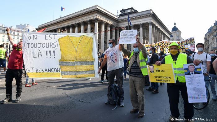 Frankreich Paris Protest der Gelbwesten (Getty Images/AFP/A. Jocard)