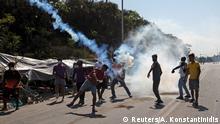 Griechenland Lesbos | Flüchtlingslager Moria | Polizei Tränengas