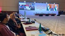 Afghanistan Habiba Sarabi beim Friedensgesprächen mit den Taliban in Doha