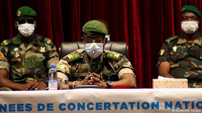 Le colonel Malick Diaw, l'un des leaders du CNSP au Mali