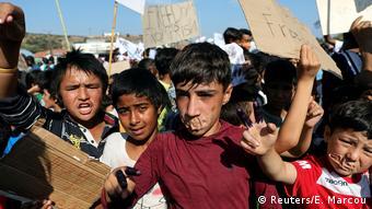 Griechenland Lesbos Moria Camp (Reuters/E. Marcou)