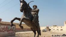 A statue of Sardar Sohbat Khan made by Mr. Lehri. Credit, Ishaq Lehri