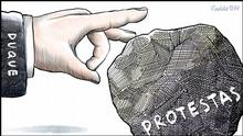 DW Karikatur von Vladdo | Proteste Kolumbien