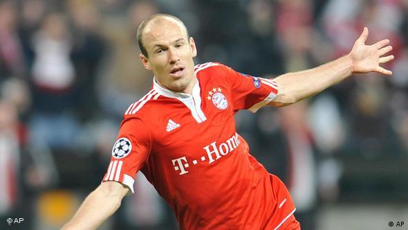 Arjen Robben nach seinem Tor im Champions League-Halbfinale zwischen dem FC Bayern und Olympique Lyon (Foto: apn/Uwe Lein)