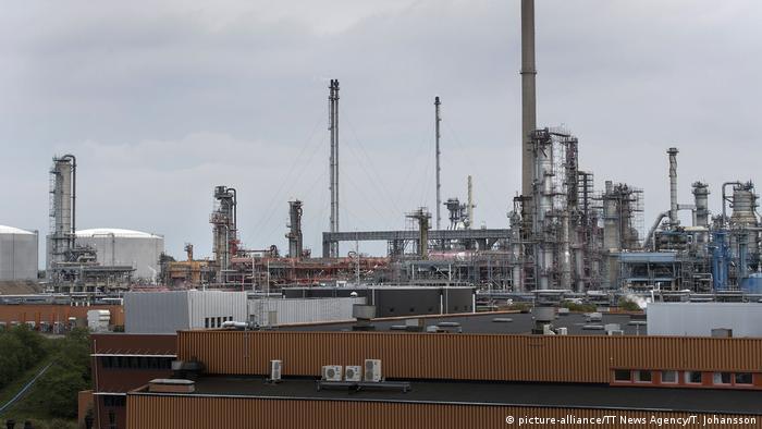 The Lysekil oil refinery in western Sweden